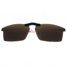 Custom Polarized  Clip On Sunglasses For Oakley Pitchman (53) OX8050 53-18-140 (Bronze Brown)
