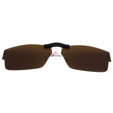 Custom Polarized  Clip On Sunglasses For Oakley Airdrop (55) OX8046 55-18-143 (Bronze Brown)