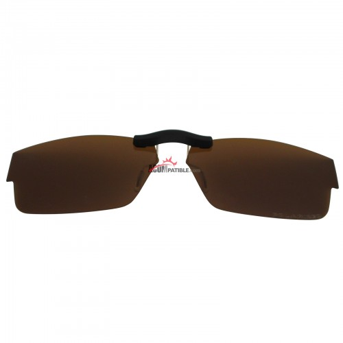 Custom Polarized  Clip On Sunglasses For Oakley Airdrop (51) OX8046 51-18-143 (Bronze Brown)