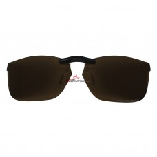Custom Polarized  Clip On Sunglasses For Oakley NINE TO FIVE (52) OX1127 52-16-138 (Bronze Brown)