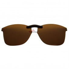 Custom Polarized Clip On Sunglasses For Oakley Finesse 54 OX1126 54-15-136 (Bronze Brown)
