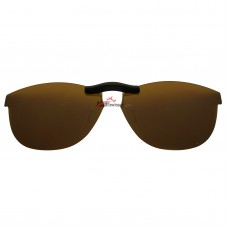 Custom Polarized Clip On Sunglasses For Oakley Stand Out 53 OX1112 53-16-136 (Bronze Brown)