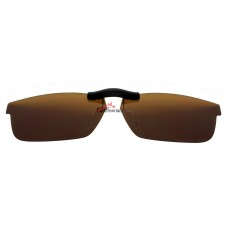 Custom Polarized Clip on Sunglasses For RayBan RB5277 (52mm) 52-17-140 (Bronze Brown)