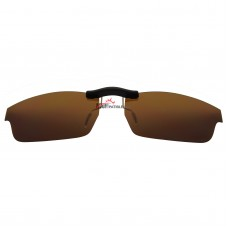 Custom Polarized  Clip On Sunglasses For Oakley CROSSLINK (Asia Fit) 53 OX8029 53-17-140 (Bronze Brown)