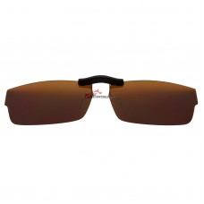 Custom Polarized  Clip On Sunglasses For Oakley Tailspin (53) OX1099 53-18-140 (Bronze Brown)