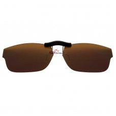 Custom Polarized  Clip On Sunglasses For Oakley Marshall (51) OX8034 51-17-143 (Bronze Brown)