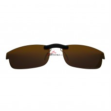 Custom Polarized Clip on Sunglasses For Oakley CARBON PLATE (53) OX5079 53x18 (Bronze Brown)