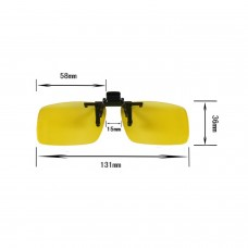 Easy Clip on Flip up Sunglasses with UV400 Polycarbonate Polarized Yellow Lenses