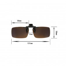 Clip on Flip up Enhancing UV400 Driving Glasses Polarized Brown Lenses Unisex