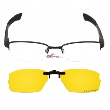 Custom Polarized Hook Up Sunglasses For Oakley DOUBLE TAP OX3123 3123 53x18 (Yellow) - Night Vision