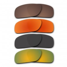 Polarized Lenses for Oakley Holbrook 4 Pair Color Combo (Bronze Brown, Fire Red Mirror, Black, Gold Mirror)