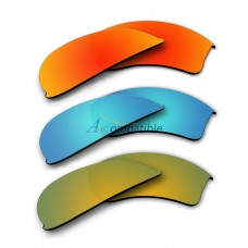 Replacement Polarized Lenses for Oakley Half Jacket 2.0 XL 3 Pair Combo (Fire Red Mirror, Blue, Gold)