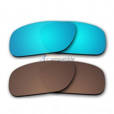 Polar Lens for Oakley Holbrook 2 Pair Color Combo (Ice Blue Mirror,Bronze Brown)