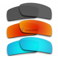 Polarized Lenses for Oakley Gascan 3 Pair Combo (Grey, Fire Red Mirror, Ice Blue Mirror)