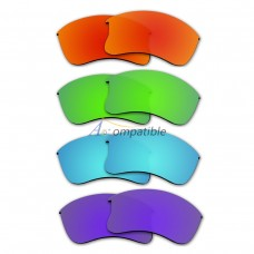 Polarized Lenses for Oakley Flak Jacket XLJ 4 Pair Combo (Fire Red Mirror, Amber Green Mirror, Blue, Purple)