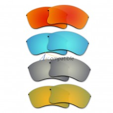 Polarized Lenses for Oakley Flak Jacket XLJ 4 Pair Combo (Fire Red Mirror, Blue, Titanium, Gold)