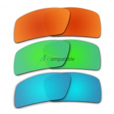 Lenses for Oakley Eyepatch 2 3 Pair Color Combo (Fire Red Mirror, Emerald Green Mirror, Ice Blue Mirror)