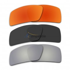 Lenses for Oakley Eyepatch 2 3 Pair Color Combo (Fire Red Mirror, Black Color, Silver Mirror)
