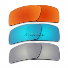 Lenses for Oakley Eyepatch 2 3 Pair Color Combo (Fire Red Mirror, Ice Blue Mirror, Silver Mirror)