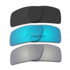 Lenses for Oakley Eyepatch 2 3 Pair Color Combo (Black Color, Ice Blue Mirror, Silver Mirror)