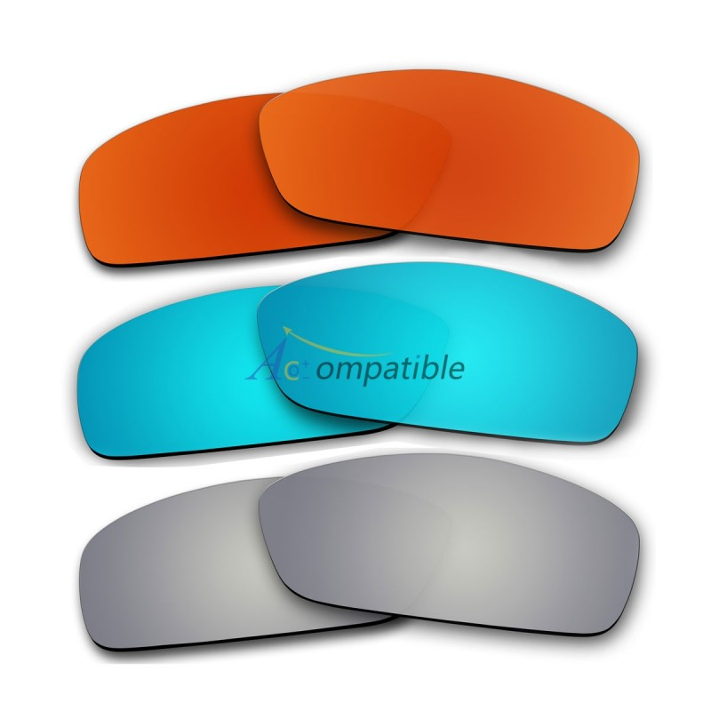 Lenses for Oakley Hijinx 3 Pair Color Combo (Fire Red Mirror, Ice Blue  Mirror ...