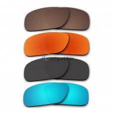 Polarized Lenses for Oakley Holbrook 4 Pair Color Combo (Bronze Brown,Fire Red Mirror,Black,Ice Blue Mirror)