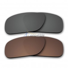 Polarized Lenses for Oakley Holbrook 2 Pair Combo (Grey, Bronze Brown)