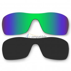 antix oakley replacement lenses dbuc  Polar Lenses for Oakley Antix 2 Pair Color Combo Emerald Green Mirror,  Black Color
