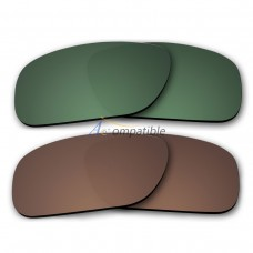 Polarized Lenses for Oakley Holbrook 2 Pair Combo (Green,Bronze Brown)