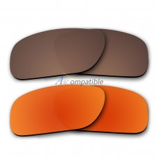 Polar Lens for Oakley Holbrook 2 Pair Combo (Bronze Brown, Fire Red Mirror)