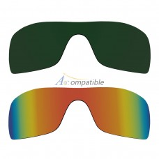 Polarized Lenses for Oakley Batwolf 2 Pair Combo (Green, Fire Red Mirror)