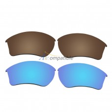 Replacement Polarized Lenses for Oakley Half Jacket 2.0 XL 2 Pair Combo (Bronze Brown, Blue)