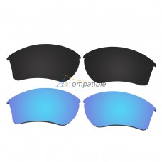 Replacement Polarized Lenses for Oakley Half Jacket 2.0 XL 2 Pair Combo (Black, Blue)