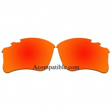 Replacement Vented Lenses for Oakley Flak Jacket XLJ / Flak Jacket XLJ Asian Fit (Fire Red Mirror)