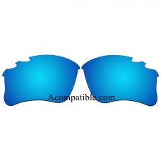 Replacement Vented Lenses for Oakley Flak Jacket XLJ / Flak Jacket XLJ Asian Fit (Ice Blue Mirror)