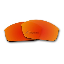 Replacement Polarized Lenses for Oakley Flak Jacket (Fire Red Mirror)