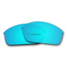 Replacement Polarized Lenses for Oakley Flak Jacket (Ice Blue Mirror)