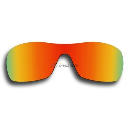 Replacement Polarized Lenses for Oakley Antix (Fire Red Mirror)