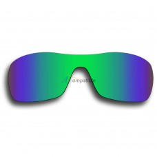 Replacement Polarized Lenses for Oakley Antix (Emerald Green Mirror)