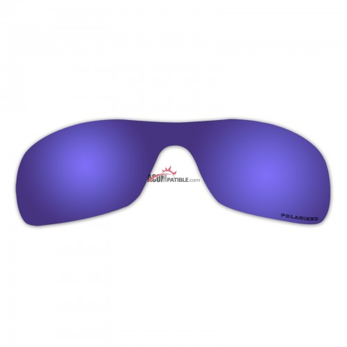 Replacement Polarized Lenses for Oakley Antix (Purple Coating Mirror)