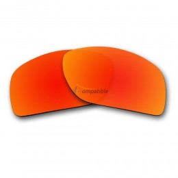 Oakley Big Taco Polarized Replacement Lenses OO9173 (Fire Red Mirror)