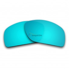 Replacement Polarized Lenses for Oakley Big TacoOO9173  (Ice Blue Mirror)