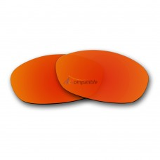 Replacement Polarized Lenses for Oakley Fives 2.0 (Fire Red Mirror)
