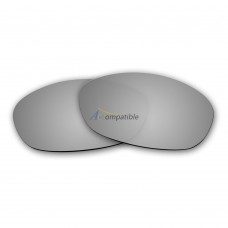 Replacement Polarized Lenses for Oakley Fives 2.0 (Silver Mirror)
