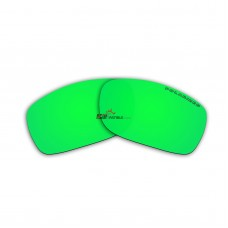 Polarized Lenses for Oakley Fives Squared (Emerald Green Mirror)