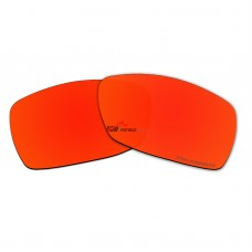 Replacement Polarized Lenses for Oakley Spike (Fire Red Mirror)
