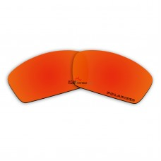Replacement Polarized Lenses for Oakley Square Whisker (Fire Red Mirror)