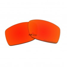 Replacement Polarized Lenses for Oakley Square Wire II New (2014) (Fire Red Mirror)