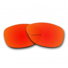 Replacement Polarized Lenses for Oakley Frogskins (Fire Red Mirror)