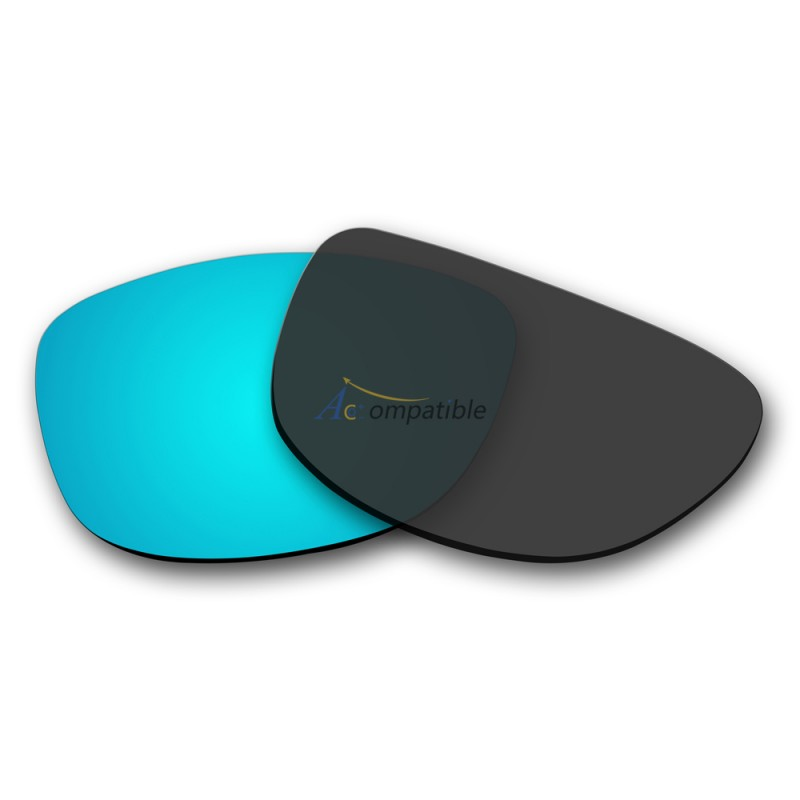 blue oakley frogskins 30qs  Replacement Polarized Lenses for Oakley Frogskins Ice Blue Mirror